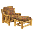Log Chair & Ottoman